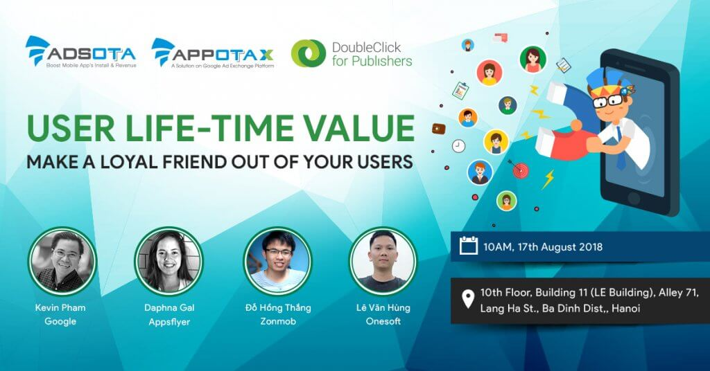 Adsota Workshop No. 8: Make a loyal friend out of your user, User lifetime value, LTV